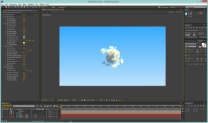 Clouds procedurally rendered directly in After Effects